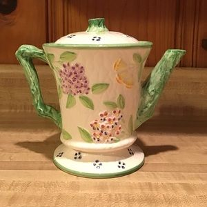 RARE VTG 1989 Majolica Teapot by The Haldon Group